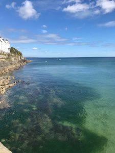 Beautiful swimming water in cornwall, portmellon beach